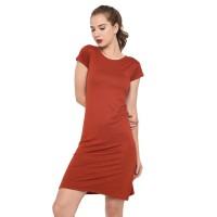 Lemone T-shirt Cewe Spandek Premium Dress Wanita - Black