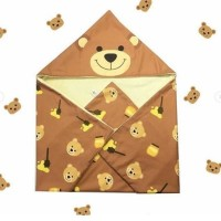 Selimut Topi Bayi Beruang Cokelat
