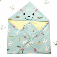 Selimut Topi Bayi Katun Premium Jepang Kelinci Biru
