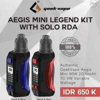 aegis mini legend kit with solo rda vape vapor