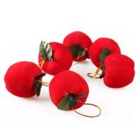 XDAP apel merah 5CM mini dekorasi ornamen pohon natal gantungan