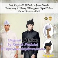 Iket Kepala Full Jawa Sunda Bali, Totopong Udeng Lipat Polos