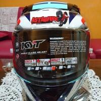 Helm Kyt R10 Aqua Flat Visor Clear