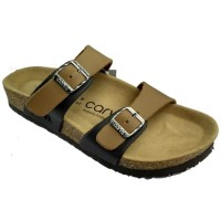 promo sendal footbed pria carvil Clifton-02 Brown/stone