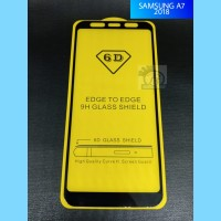 TEMPERED GLASS 5D FULL COVER SAMSUNG A7 2018
