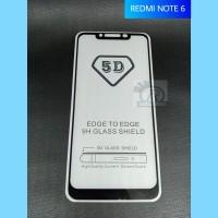 TEMPERED GLASS 5D FULL COVER XIAOMI REDMI NOTE 6