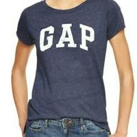 GAP Distresset Logo tshirt Kaos Wanita Atasan Wanita