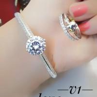 xuping gelang cincin lapis emas putih 24k 2015