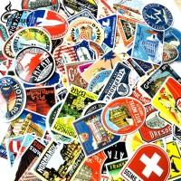 Stiker 377 - 100 pcs Hotel Sticker Retro rimowa koper tas travel skate