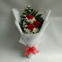 Buket bunga hadiah ulang tahun bunga mawar asli hand bouquet