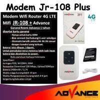 Modem Advan Modem Wifi JR-108 Plus 4G LTE Mifi New