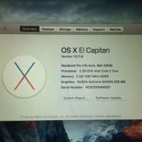 Laptop Bekas Second Murah MacBook Pro C2D RAM 2 GB HDD 160 GB NVIDIA