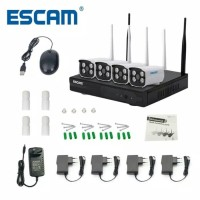 ESCAM Wireless NVR Kit HD 4Ch with 4 CCTV 720P - WNK403