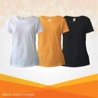 (PROMO A) 3 PCS KAOS 100rb Kaos Polos Combed 30s Slub Wanita - S