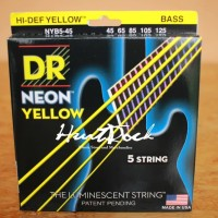 Senar Bass DR String Neon Yellow 5 String