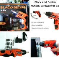 Mesin Bor Obeng Portable Charger Black Decker 4.8V Electric Screwdriv