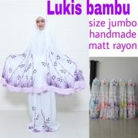 Mukena Lukis Daun Bambu Jumbo XL