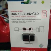 Flashdisk Sandisk 16 Giga OTG On The Go 130MB/s