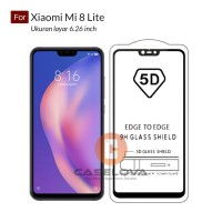 Full Cover Tempered Glass Warna 5D Xiaomi Mi 8 LITE
