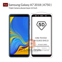 Full Cover Tempered Glass Warna 5D Samsung Galaxy A7 2018 ( A750 )