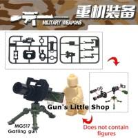 Brick - Accessories Army Weapon Military Gatling Gun Granade Lego