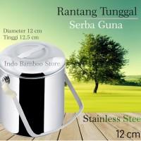 Rantang Tunggal Pakai Kunci 12 CM | Rantang Stainless Serba Guna