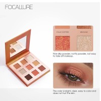 FOCALLURE New 9 Colors Eyeshadow Palette with Mirror | FA62