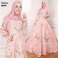 gamis maxi xl dress EMY 0099 katun bangkok baju wanita busana muslim