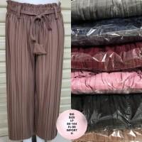 Celana Big Size Kulot Plisket 80-144 CM Hijab Muslim Palazzo Stretch