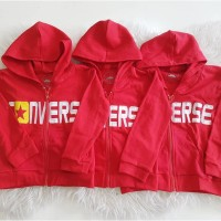 Jaket Anak Model Converse Merah
