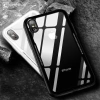 Paket Cafele iPhone X Tempered Glass + TPU Ultra Thin & anti gores 4D
