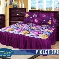 sprei Rumbai California 180x200 ( king size) motif violet spring