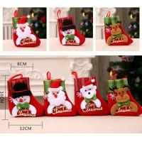 XKK1 kaos kaki socks natal aksesoris gantungan pohon natal dekorasi
