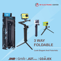 Tongsis Tripod 3 Way Foldable Extension For Action Cam GoPro Xiaomi Yi