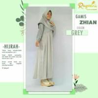 DISKON!!! Gamis Zhian Dress Grey By Riyani