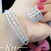 xuping gelang cincin lapis emas putih 24k 2306