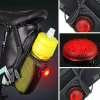 Tas Sepeda Dengan Tempat Botol / Tas Sadel Sepeda Dengan Sinyal LED