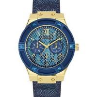 GUESS Women's Blue Leather Strap Watch 39mm U0289L3 - Women's Watches