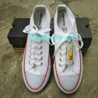 Sepatu Converse All Star putih pendek polos tali