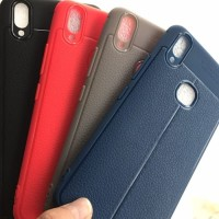 Vivo V9 Autofocus Case Carbon Casing Leather Silikon Tipis