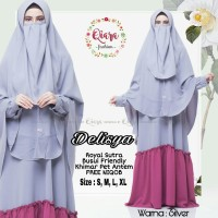 delisha syari setelan gamis cadar niqab busui size L dan XL jumbo