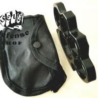 "Knuckle Tebal Hitam -Krakling-Tinju Besi Full Black""Self Defense Shop"""