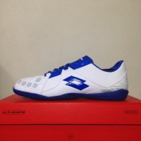 Sepatu Futsal Lotto Squadra IN White Dawn Blue L01040012 Original