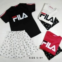 Setelan Dress Anak Fila Murah - Baby - Casual - Fashion - Pe