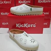 sepatu sandal wanita kickers kulit asli
