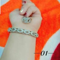 xuping gelang cincin lapis emas putih 24k 2413