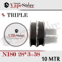 TRIPEL FUSED CLAPTON NI80 28*3+38 |GROSIR 10 METER