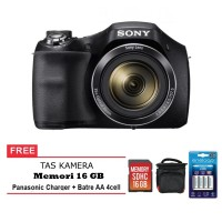 Kamera Sony Cyber-Shot DSC H300 Free Memory 16GB Tas Kamera Battery