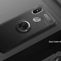 Casing Autofocus Ring Magnetic Case Xiaomi Redmi Note 6 Pro - Hitam