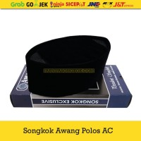 Kopiah Songkok Awang Polos AC Size Besar